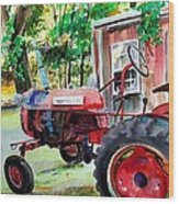 Hawk Hill Apple Tractor Wood Print