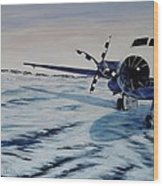 Hawker - Airplane On Ice Wood Print