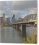 Hawthorne Bridge Portland 001 Wood Print