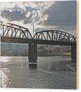 Hawthorne Bridge Portland 002 Wood Print
