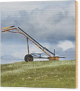 Hay Bale Loader Wood Print