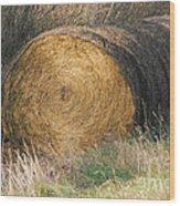 Hay Bale Wood Print