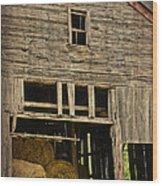 Hay For Sale Wood Print