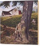 Hay Fork Wood Print