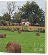 Hay From North Carolina Wood Print