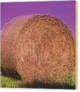 Hay Roll Wood Print