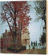 Hayesville Academy Vermillion Institute Wood Print