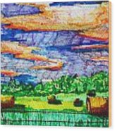 Hayfields Wood Print by Jame Hayes