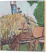 Haying Circa 1920 Wood Print