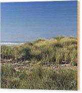 Haystack And Sea Grass Wood Print