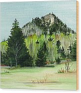 Haystack Mountain Castle Hill Me Wood Print