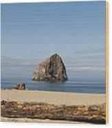 Haystack Rock 2 - Pacific City Oregon Coast Wood Print