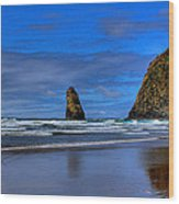 Haystack Rock And The Needles IIi Wood Print by David Patterson