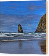 Haystack Rock And The Needles IIi Wood Print