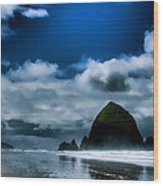 Haystack Rock IIi Wood Print