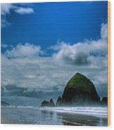 Haystack Rock V Wood Print