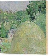Haystacks At Bougival Wood Print