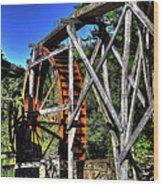 Haywood Cc Grist Mill Wheel Wood Print