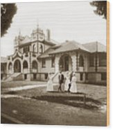 Hazel Hawkins Hospital Monterey Street Hollister California Circa 1907 Wood Print