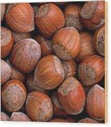 Hazelnuts Wood Print