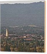 Hazy Autumn Day At Stanford University Wood Print