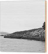 Hazy Day Shoreline Wood Print