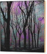 Hazy Purple Wood Print