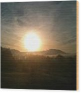 Hazy Sunrise Wood Print