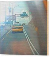 Hazy Taxi Ride Wood Print