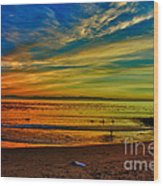 hd 329 Surfboard In The Sand-edted version Wood Print