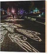 Hdr - Washington Dc National Zoo City Lights Three Wood Print