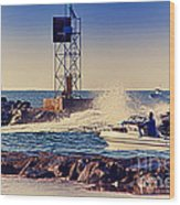 Hdr Boat Boats Fishing Ocean Beach Scenic Landscape Photos Pictures Photography Bay Buy Sell Photo  Wood Print