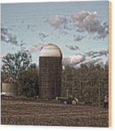 Hdr Image The Farmers Silo Wood Print