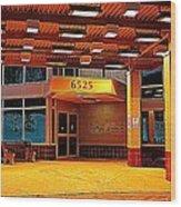Hdr Medical Building Wood Print