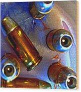 Bullet Art - Hdr Photography Of .32 Caliber Hollow Point Bullets Art 4 Wood Print
