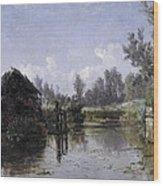 The Lake In Friesland Wood Print