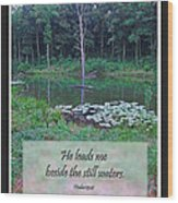 He Leads Me Beside The Still Waters Wood Print
