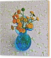 He Loves Me Bouquet Wood Print