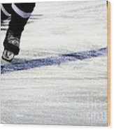 He Skates Wood Print by Karol Livote