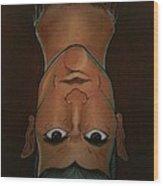 Head Cut Wood Print