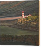 Head Harbour East Quoddy Light Wood Print