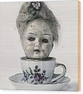 Head In Cup Wood Print