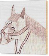 Head Of A Horse Wood Print