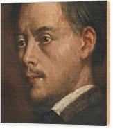 Head Of A Man Wood Print