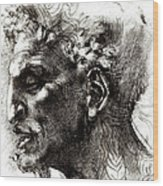 Head Of A Satyr  Wood Print
