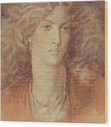 Head Of A Woman Called Ruth Herbert Wood Print