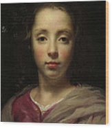 Head Of A Young Girl Wood Print