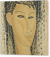 Head Of A Young Women Wood Print