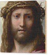 Head Of Christ Wood Print