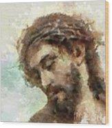 The Head Of Christ Wood Print